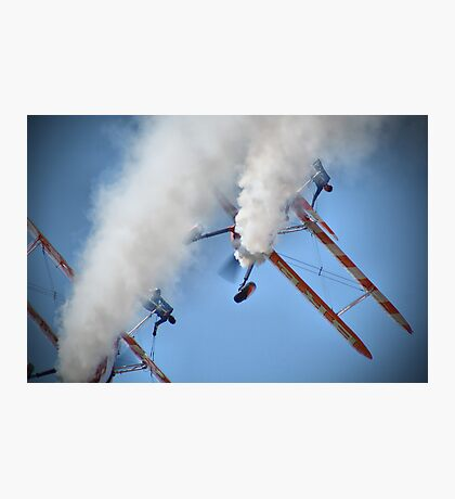 Smoking Pass - Wingwalking - Shoreham 2013 Photographic Print
