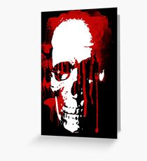 blood skull Greeting Card