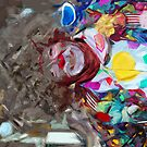 Colorful Carnival Parade Clown Abstract Impressionism by pjwuebker