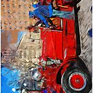 Carnival Parade antique Fire Engine Abstract Impressionism by pjwuebker