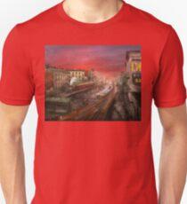 City - NY - Rush hour traffic - 1900 Unisex T-Shirt