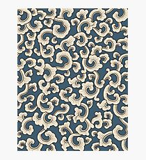 Abstract pattern on blue background Photographic Print