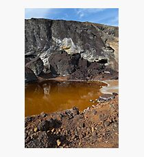 acidic waters in pyrite smelting landfill Photographic Print