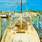 Shrimp Boat Under Repair Abstract Impressionism by pjwuebker