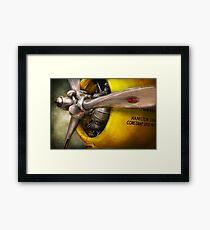 Plane - Pilot - Prop - Twin Wasp Framed Print