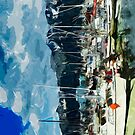Seward Harbor Alaska Abstract Impressionism 3 by pjwuebker