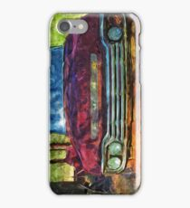 Rusty Old Ford Truck and Friend Abstract Impressionist iPhone Case/Skin