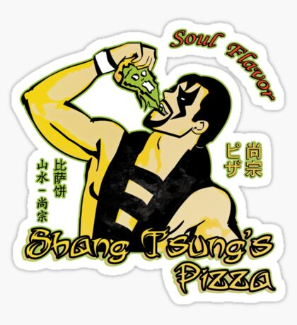 Shang Tsung's Pizza Sticker