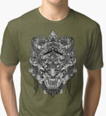 Mask Black & White Tri-blend T-Shirt