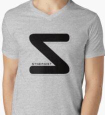 Synergist Logo Tee (black S) Men's V-Neck T-Shirt