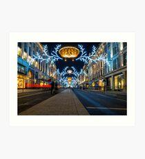 Regent Street Christmas Lights Art Print