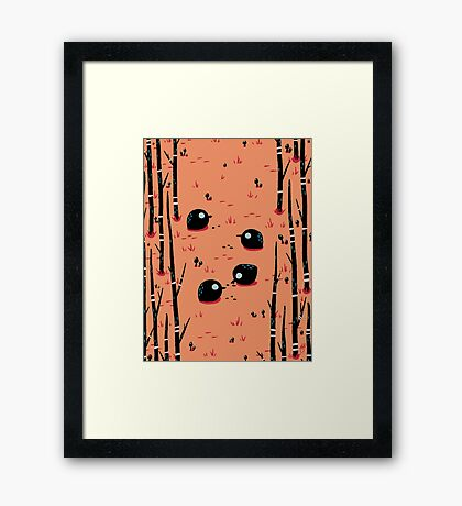 Black Birds in the Forest Framed Print