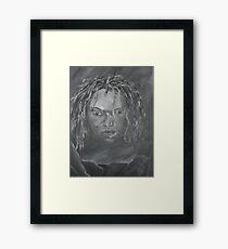 Lady Dread Locs Framed Print