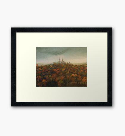 Holy Hill Rain Storm Framed Print