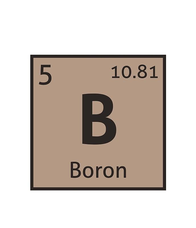 Boron Periodic Table Facts