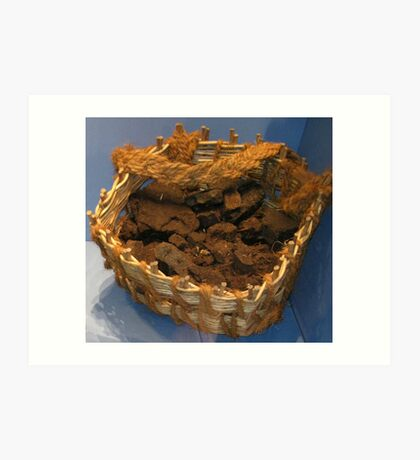 A Basket of Peat Kunstdruck