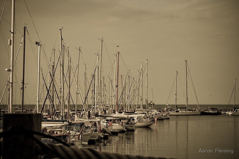 Baltic yacht harbour by Aaron Fleming