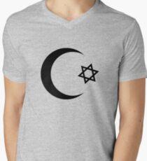 Universal Unbranding - Je t'aime... Moi non plus Mens V-Neck T-Shirt