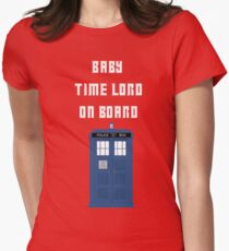 Baby Time Lord On Board Women's Fitted T-Shirt