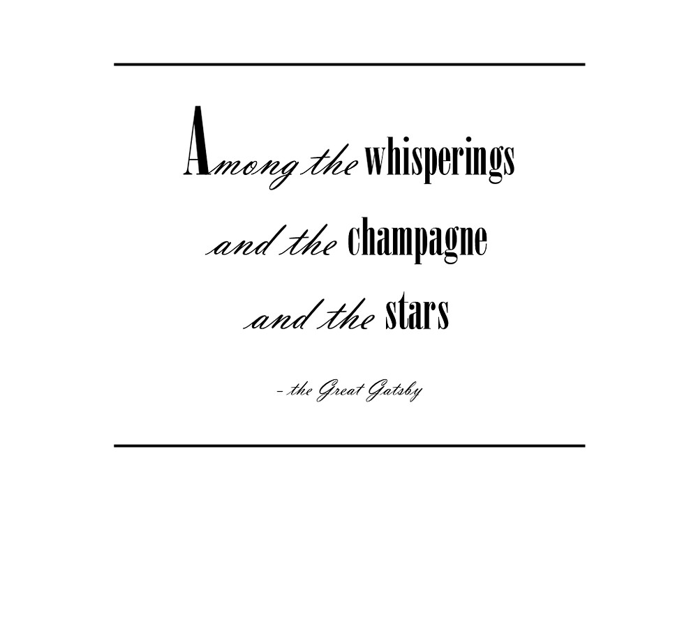 """Quote From The Great Gatsby: """"Quote Prints: 'The Great Gatsby'"""" By IonaLizzy"""