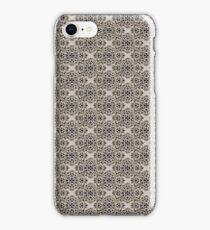 Beige Classic Damask Pattern iPhone Case/Skin