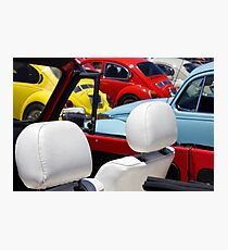 VW Beetles and Seats Photographic Print