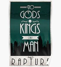 Rapture Travel Poster Poster
