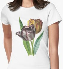 Tulip Vector on White Background Womens Fitted T-Shirt