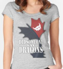 """""""Did Someone Say """"DRAGONS"""" HTTYD Fandom Tee Women's Fitted Scoop T-Shirt"""