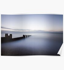 10 minute exposure on Eastbourne seafront Poster