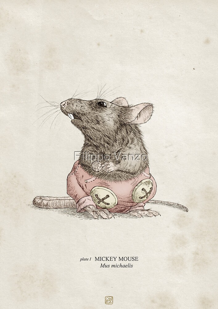 Real Life Mickey Mouse - Natural History Variant by Filippo Vanzo