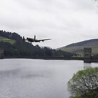 Dambusters Lancaster at the Derwent Dam by Gary Eason
