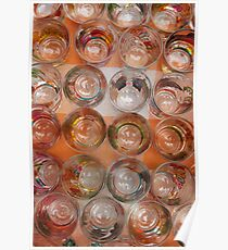 Painted Shot Glasses Poster