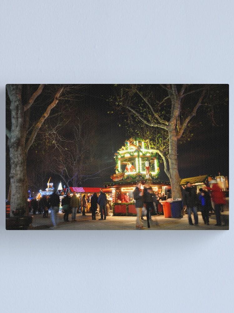 Alternate view of Christmas market Canvas Print