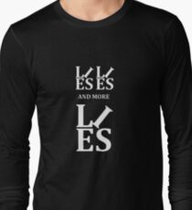 Lies Lies and More Lies White Text Parody Long Sleeve T-Shirt