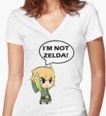 I'm Not Zelda Women's Fitted V-Neck T-Shirt