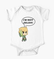 Body de manga corta para bebé No soy Zelda