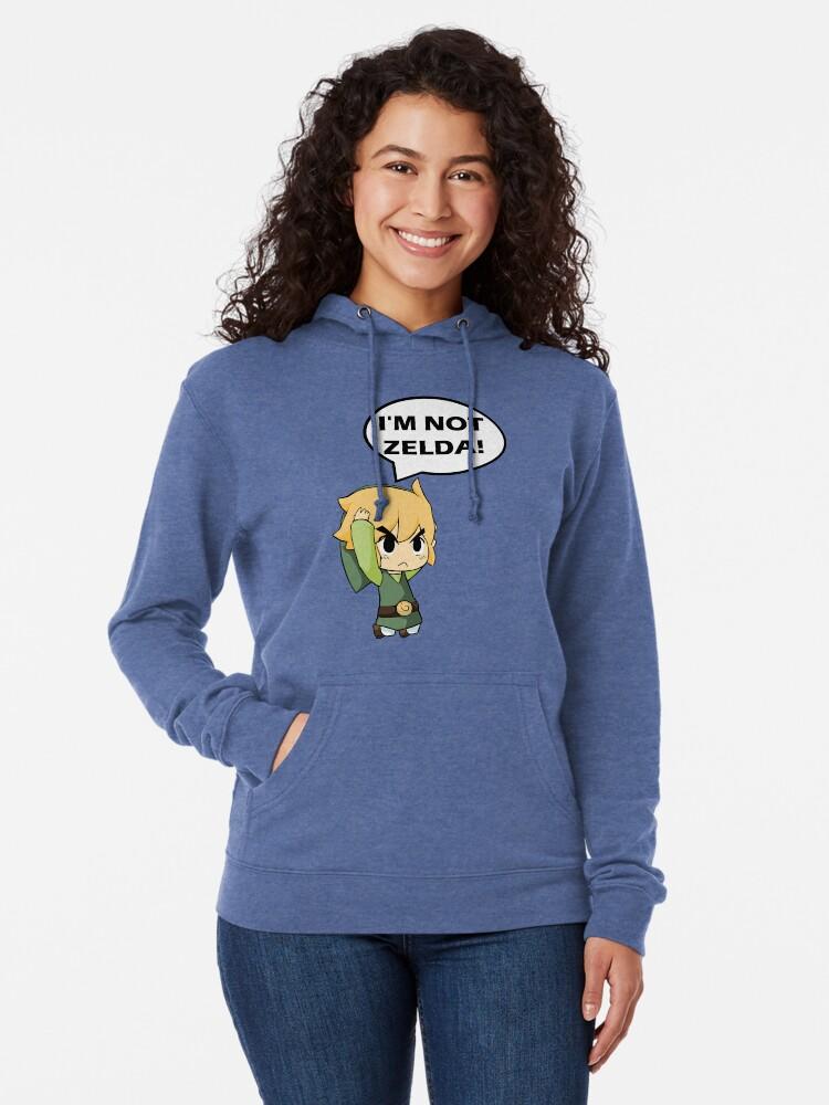 Vista alternativa de Sudadera ligera con capucha No soy Zelda