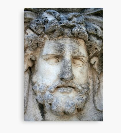 Relief of A Roman God Canvas Print