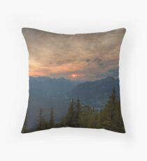 Bow Valley Sunset Throw Pillow
