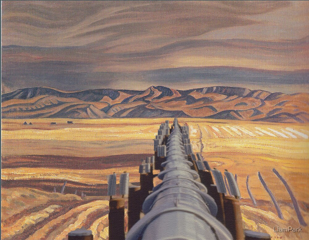 Oil Paintings : An Appropriation Project - Blood Indian Reserve Alberta by LiamPark