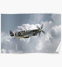 Polish Spitfire Ace Poster