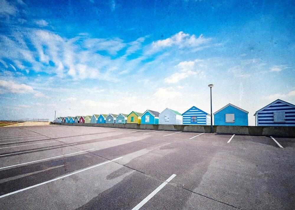 Beach Huts by Svetlana Sewell