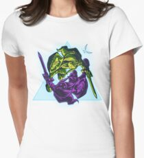 Shadow Battle - Green Womens Fitted T-Shirt