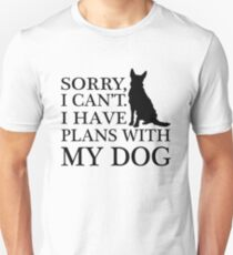 Plans With My Dog, Australian Cattle Dog T-Shirt