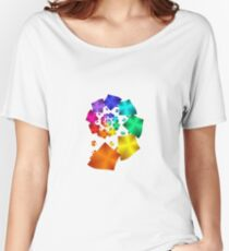 Colorful Geometric Spiral Women's Relaxed Fit T-Shirt