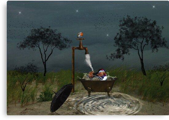 Splish Splash.... by Karen  Helgesen