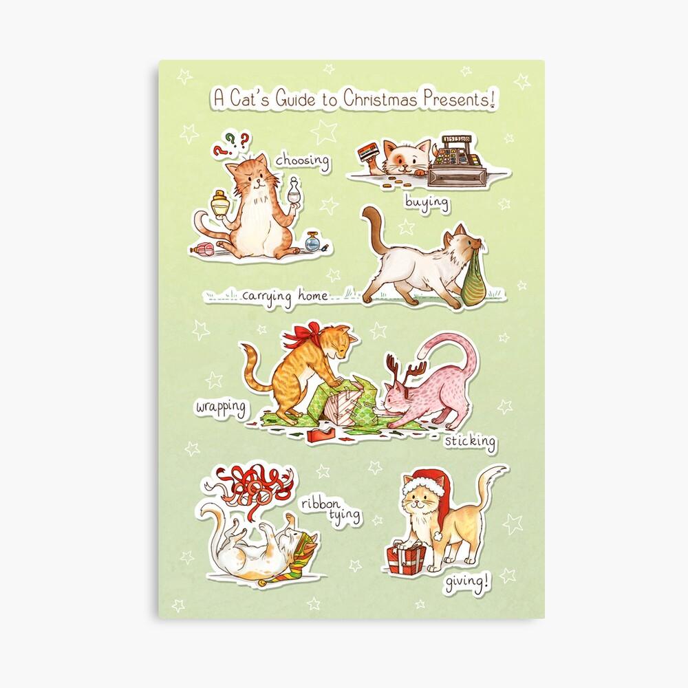 A Cat's Guide to Christmas Presents Canvas Print