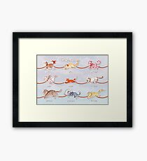 Santa's Little (Kitten) Helpers Framed Print