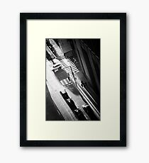 White Car Framed Print